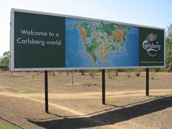 Det første skiltet som møter en fra flyplassen ved Lilongwe