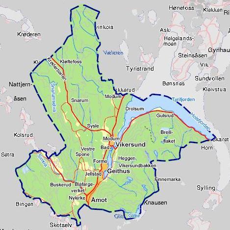 kart over åmot Info om Modum   Faktaopplysninger   Modum kommune kart over åmot