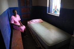 Pasient- og fødestue ved helsestasjonen  Mabongisseh