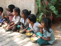 Barnehagebarn i Bangalore