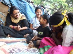 Kavita Ratna fra vår gode partner CWC i India har god kontakt med barna