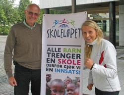 Ordfører Iddberg og FORUTs markedskoordinator, Brita Staal